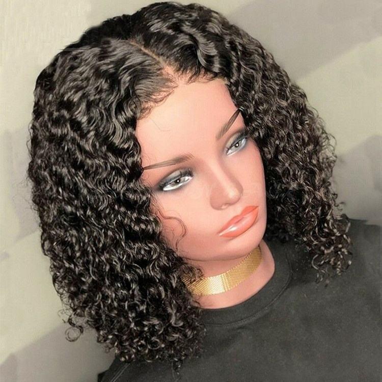 corto rizado bob hd encaje virgen barazilian cabello humano 13x6 encaje <span class=keywords><strong>peluca</strong></span> delantera