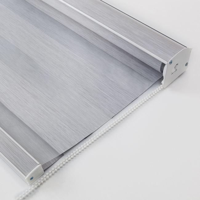 Cortinas de tela de doble capa de color gris puro para decoración de Hotel cortinas de cebra para cebra