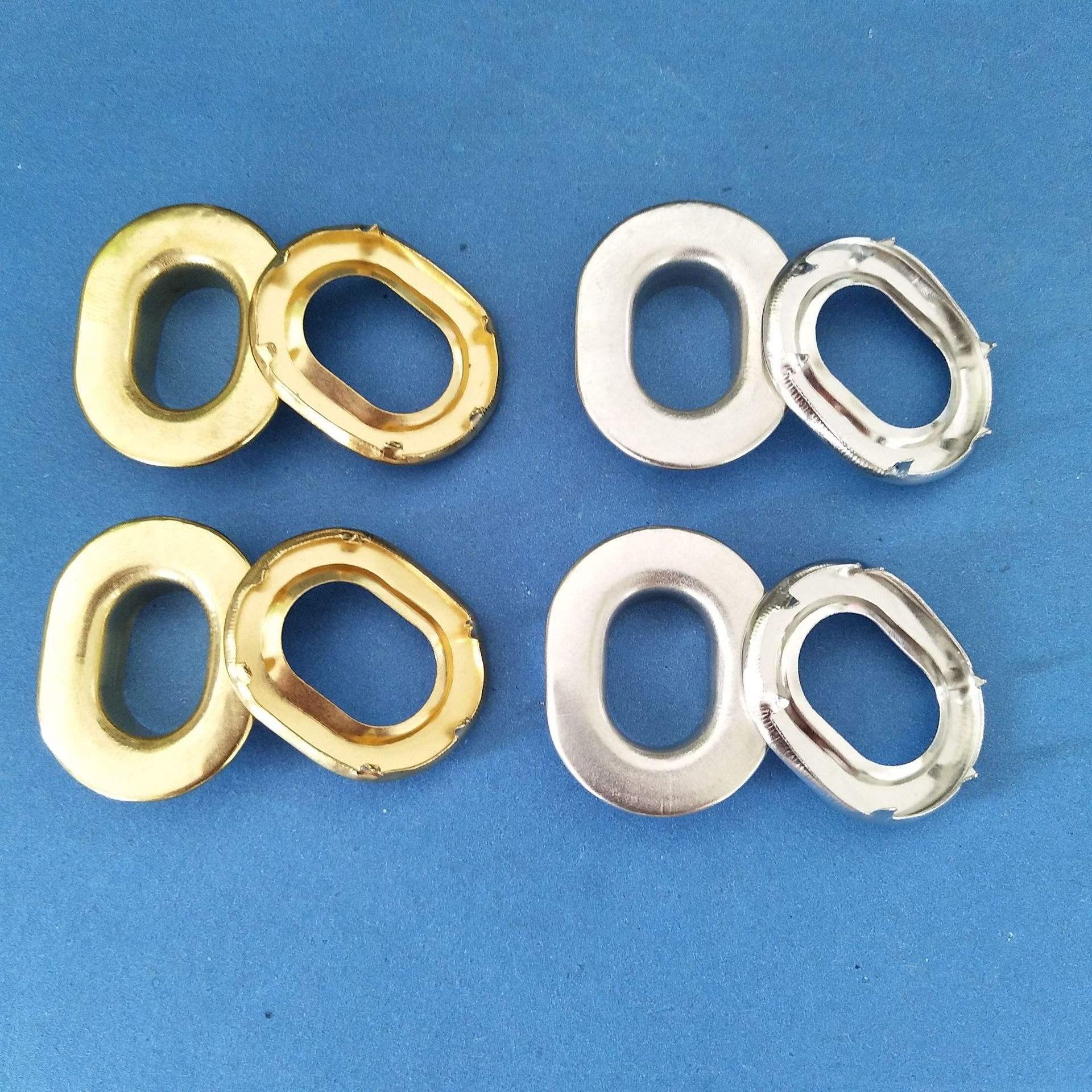 La plaza de la moda de oro Oval Plata Mate zapatos <span class=keywords><strong>ojal</strong></span>/arandela de Metal