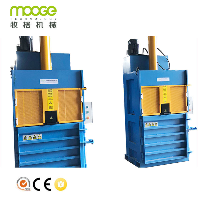 hydraulic horizontal semi-auto fiber press baler machine