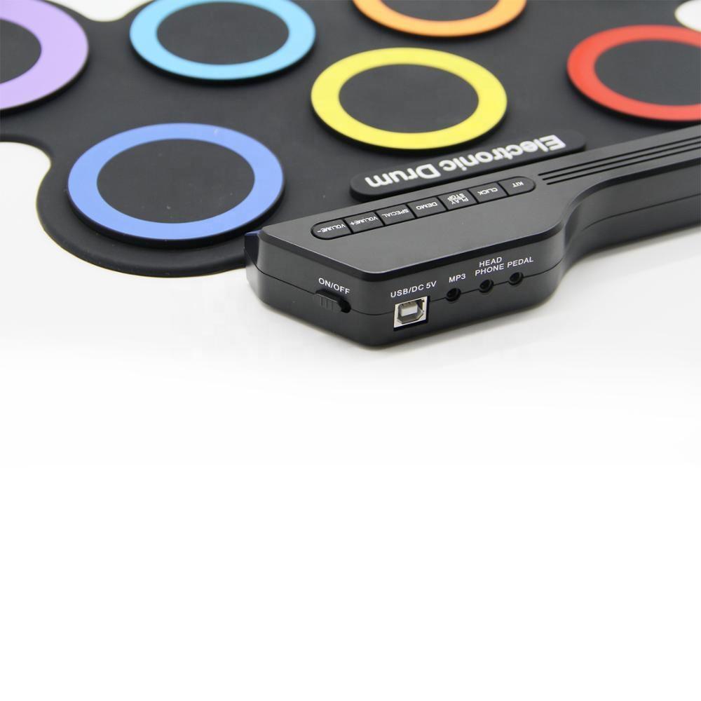 Preço de fábrica Roll up tambor rainbow color made in China portátil de Bateria Eletrônica