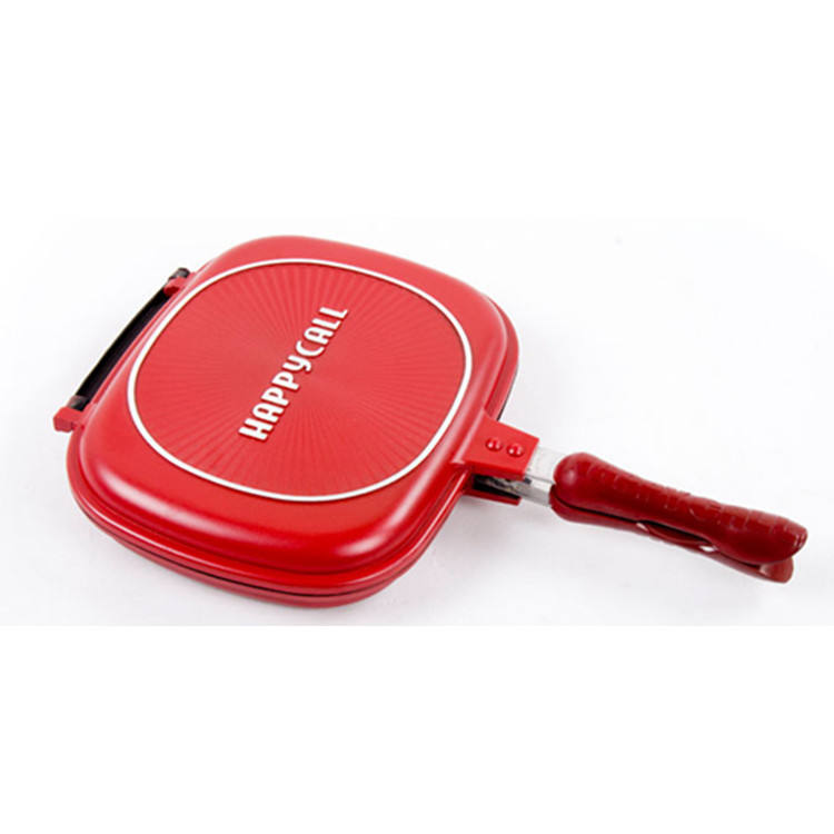 Cheaper aluminum die cast non-stick square double side grill pan frying pan