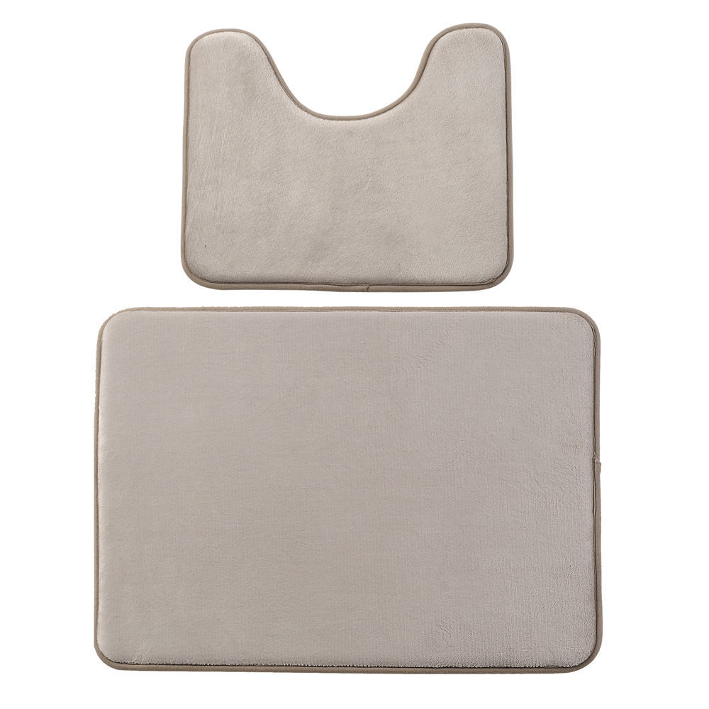 Memory foam 2 pcs bathroom mat set