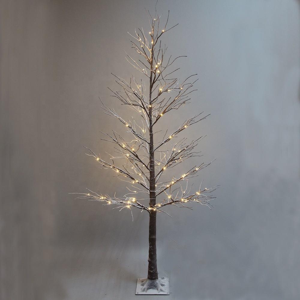 Предосвещенная Рождественская елка освещенная Снежная ива дерево свет