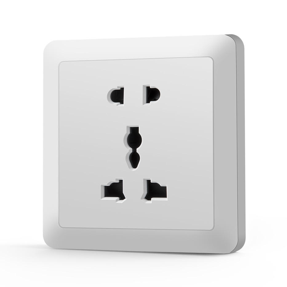 Professionele Vervaardiging Wit Pc Paneel 5 Pin Mf Flush Multi-Functionele <span class=keywords><strong>Socket</strong></span>