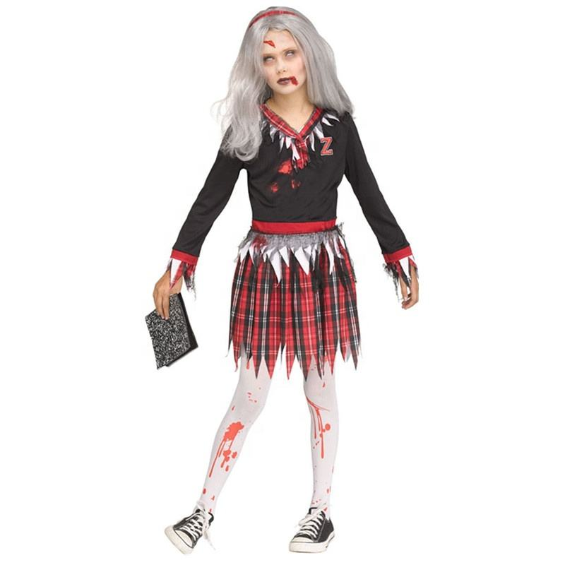 Carnaval Crianças Vestindo Trajes de Vampiro Zumbi, Sangrento Trajes Estudantis E Partido Do Vestido Extravagante
