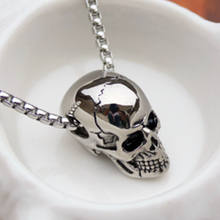 Punk Stainless Steel Chain + Alloy Skull Pendant Necklace For Men Male  New