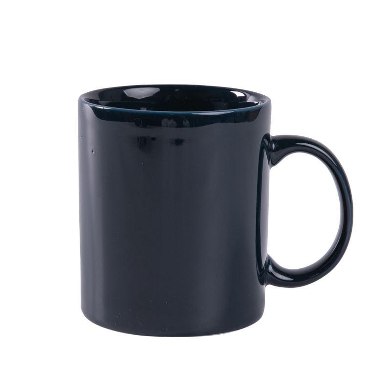 Toptan yuvarlak şekiller yeşil nescafe seramik porselen kahve kupa
