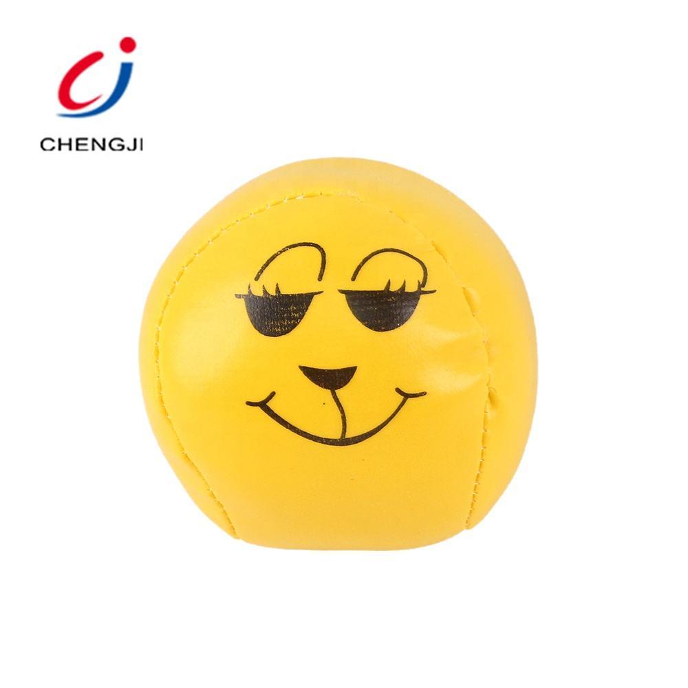 Niños barato pequeño bell amarillo cara emoji estrés de algodón suave bola de la pu