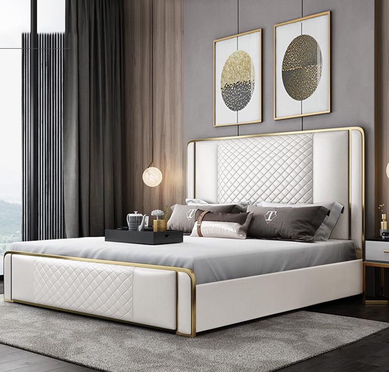 Diseño simple de colchones de muelles de madera de color + camas muebles