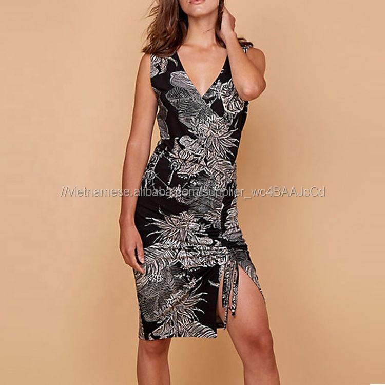 Váy dệt kim in hoa của phụ nữ Plus size
