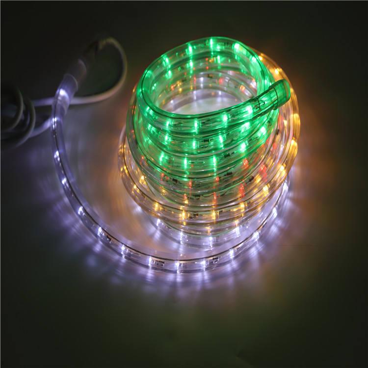 220v Рождество водонепроницаемый красочные украшения дома светодиодные веревки свет 11w свадьба гирлянда огни