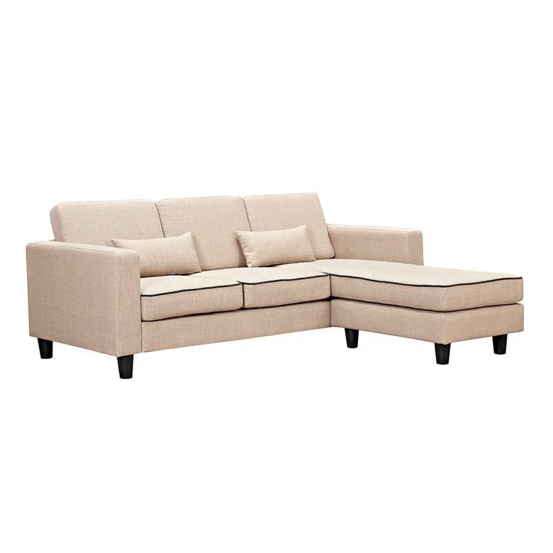 Fábrica gran oferta OEM sofá en forma de L conjunto de sofás de sala de estar para muebles de Hotel