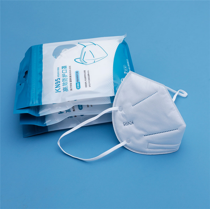 L'usine a un masque nasal pour respirer.Camouflage chirurgical, masque de médecin