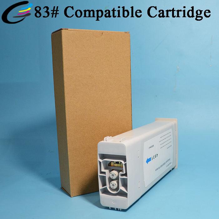 Cartucho de tinta de pigmento UV Compatible 83 para cartuchos de Plotter <span class=keywords><strong>HP</strong></span> DesignJet 5500 5100 5000