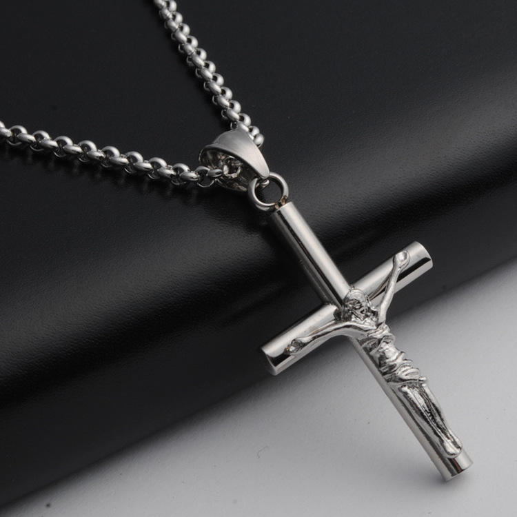 Ожерелье 316 нержавеющая сталь титановая сталь Подвеска Крест Христос Иисус