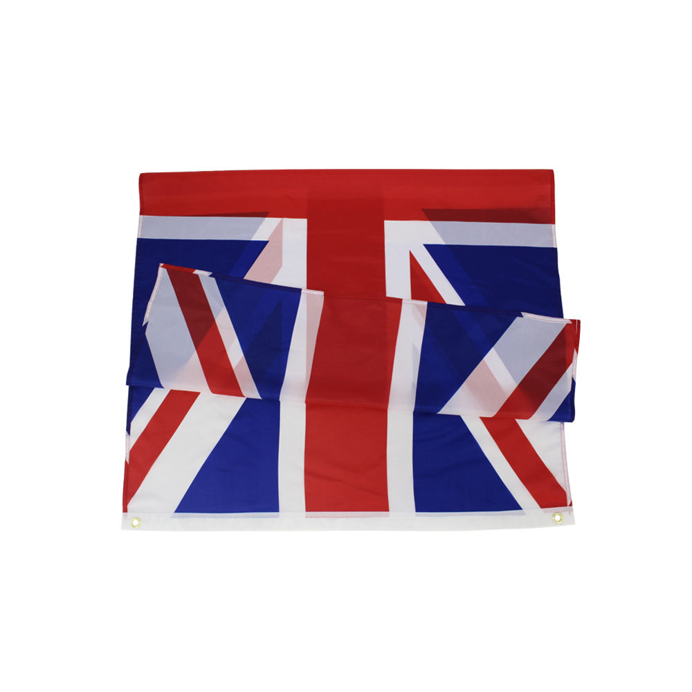 24 Hours Online Digital Printing OEM ODM Polyester 3*5 Ft United Kingdom Flag For Parade Rally