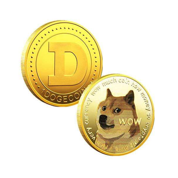 Gold Dog Commemorative Coin Gold Plated Doge Coin Limited Edition Collectible Coin with Protective Case