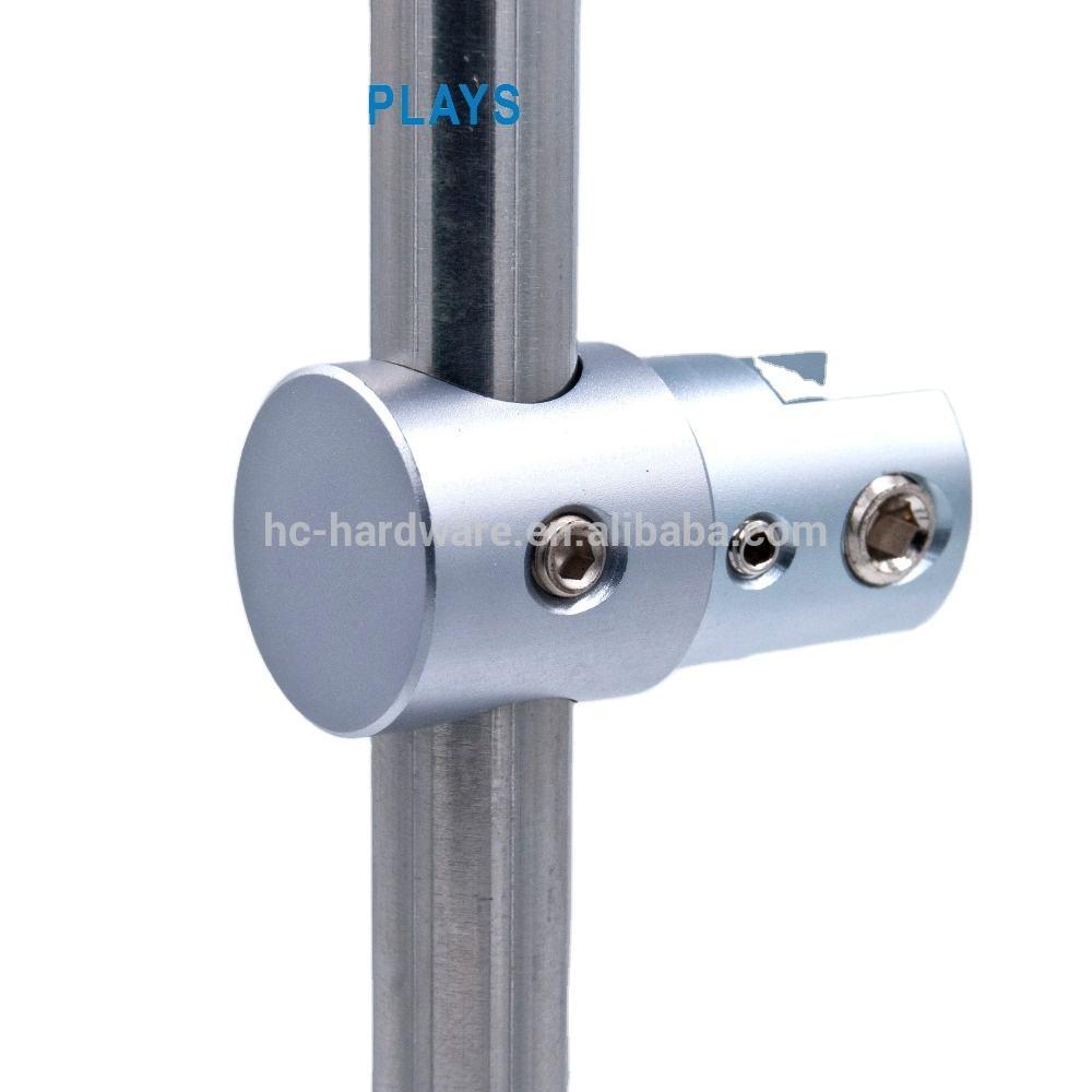 멀티 위치 led 창 디스플레이, 유리 선반 단일 양면 클램프 10mm로드 디스플레이 키트