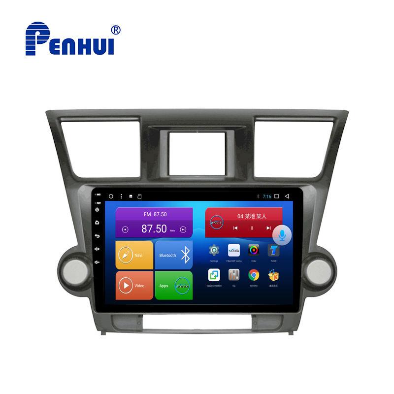 10.1 pouces Android Octa Core 4 GO de RAM + 64 GO ROM Voiture DVD GPS Système pour Toyota Highlander (2009-2013)
