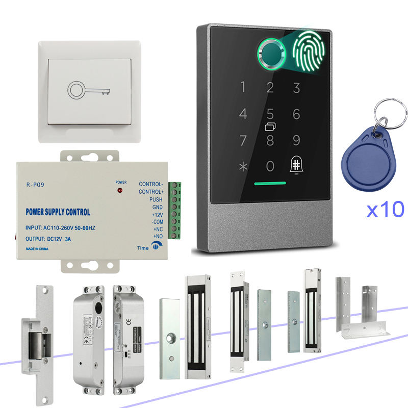 Special Offer Rfid Keypad Access Control Kit Electric Strike Lock for Frameless Glass Door