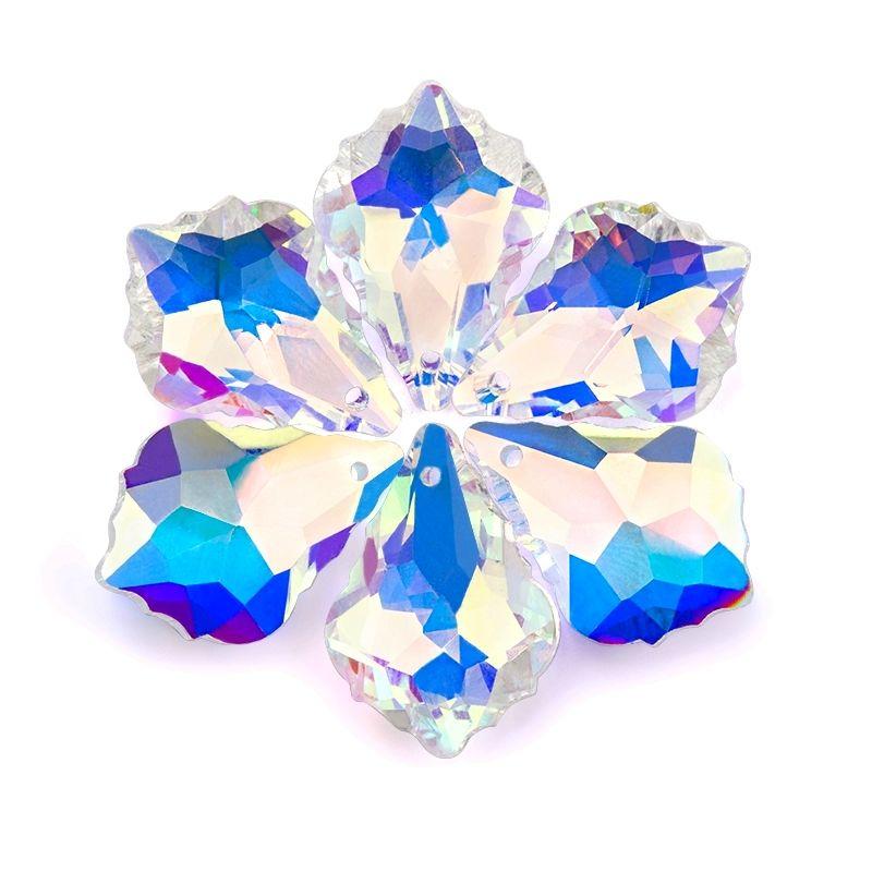 22mm de Cristal AB de arce de joyería de forma de hacer cuentas de vidrio brillante Boutique colgantes para la joyería Decoración