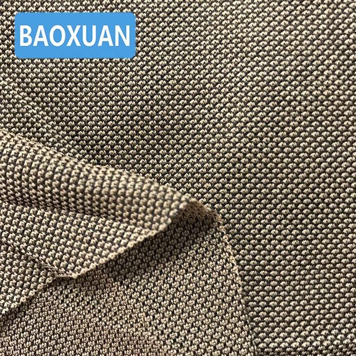 Shaoxing textiles más popular barato fuerte de lujo de poliéster tejido en piqué