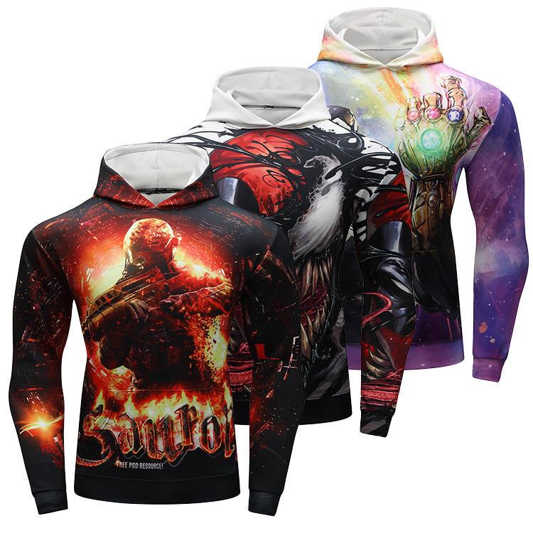 Cody Lundin ropa deportiva 3d spiderman superman impresión sudaderas con capucha para los hombres