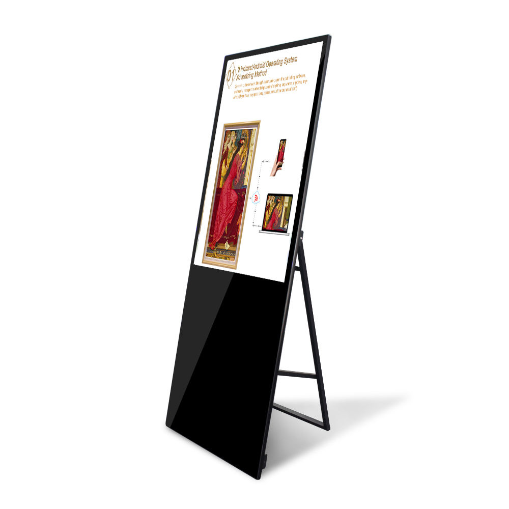 Black stand 43inch LCD display digital signage advertising media player