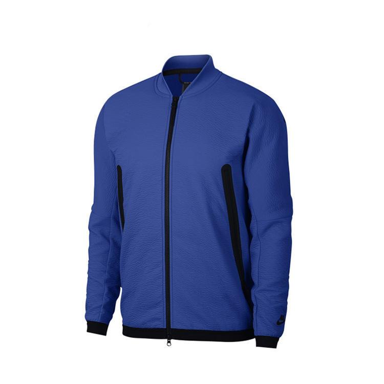 Последний стиль ребристый воротник Мужская кожа полиэстер ворсистая теплая куртка с карманами