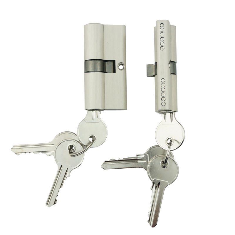 Euro profile mortice lock brass Core Body Double open Cylinder Door Lock with normal key lock Cylinder
