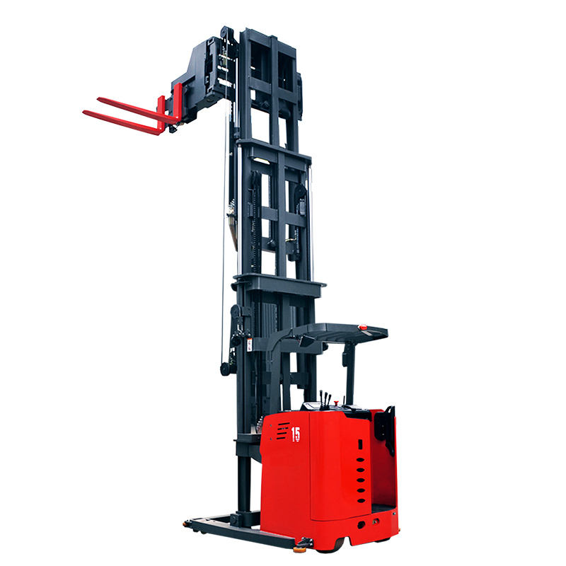 China factory price full electric very narrow aisle turret reach truck optioned with magnetic navigation