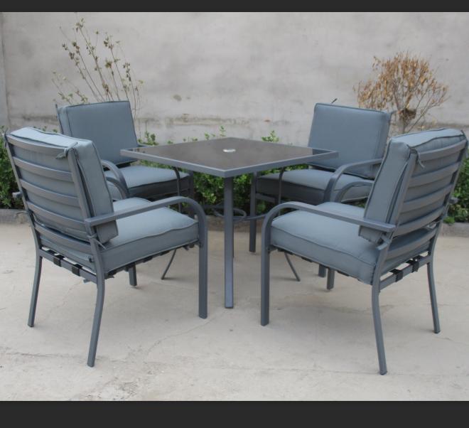 5 pcs 4 cadeiras + 1 mesa Ao Ar Livre conjunto jardim five-piece tambor em forma de cadeira e mesa posta, cadeira de jardim tabela
