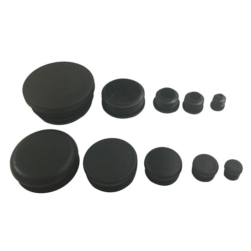 Hecho en china de ali baba negro 20 22 25 28 35 50mm tapones de plástico para muebles