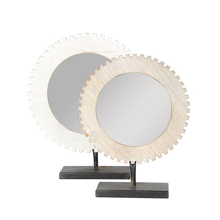 All'interno Della Camera di Legno Che Intaglia Arte di Specchio Da Tavolo Innovativo Europeo Designer Home Decor