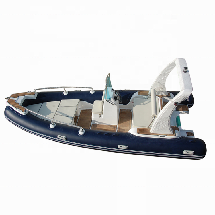 China 600 20ft costilla inflable de fibra de vidrio barco para la venta