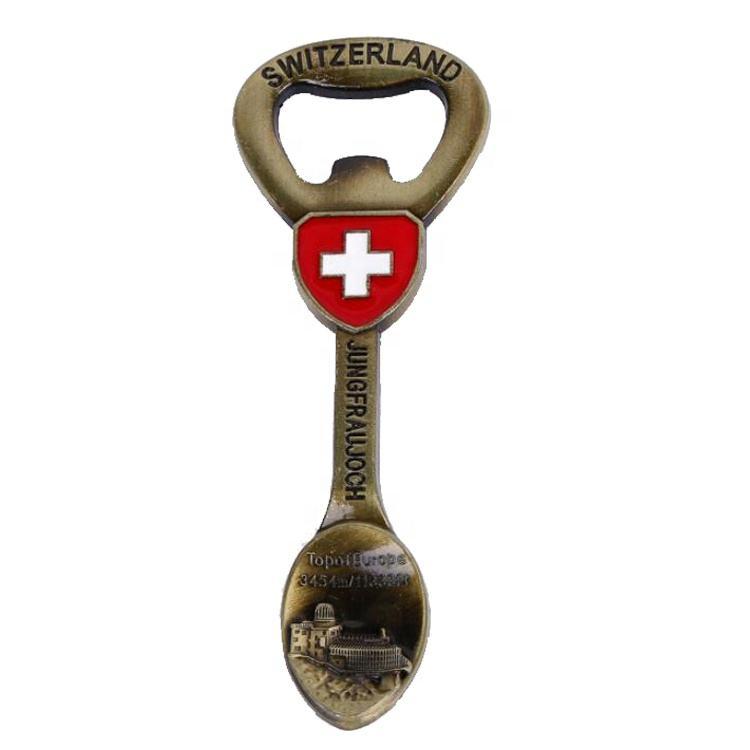 Suisse vache DÉCAPSULEUR 3D Résine TOURISTIQUE SOUVENIR DE COLLECTION MAGNET