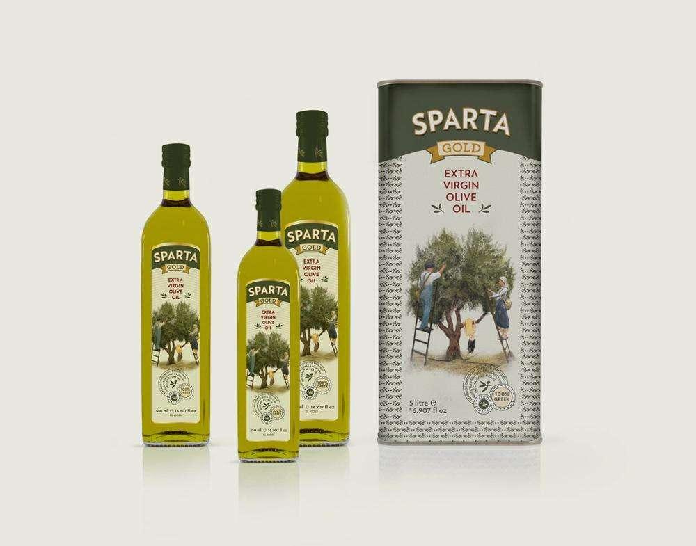 Sparta Extra Virgin Olive Oil 5L metal tin