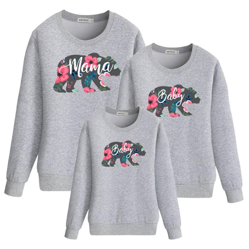 Недорогая семейная одежда, свитшот для матери и ребенка