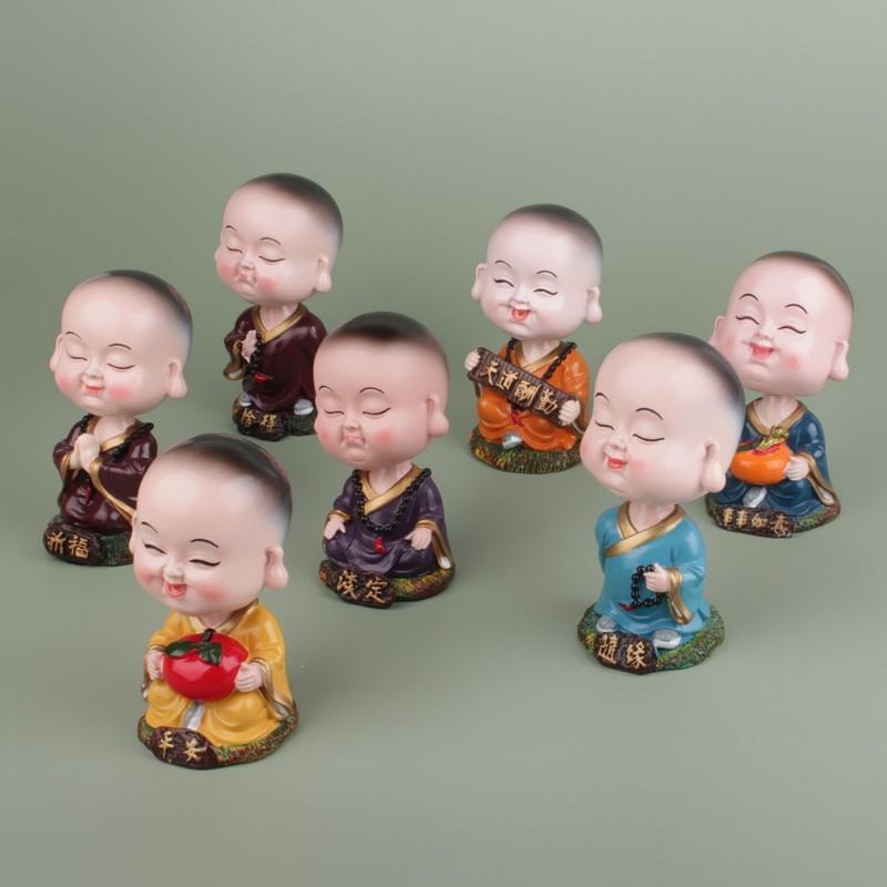 Casa artesanía <span class=keywords><strong>de</strong></span> resina pequeñas monjes estatua bebé <span class=keywords><strong>Buda</strong></span> decoración regalo