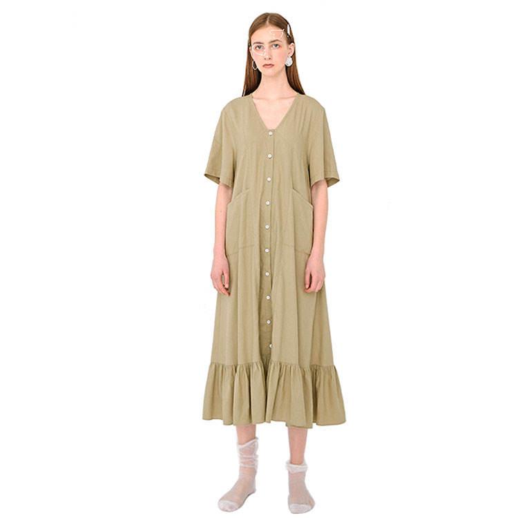 30 <span class=keywords><strong>keten</strong></span> 70 pamuk özelleştirilebilir v yaka bahar artı boyutu rahat kadın elbise yaz 2020
