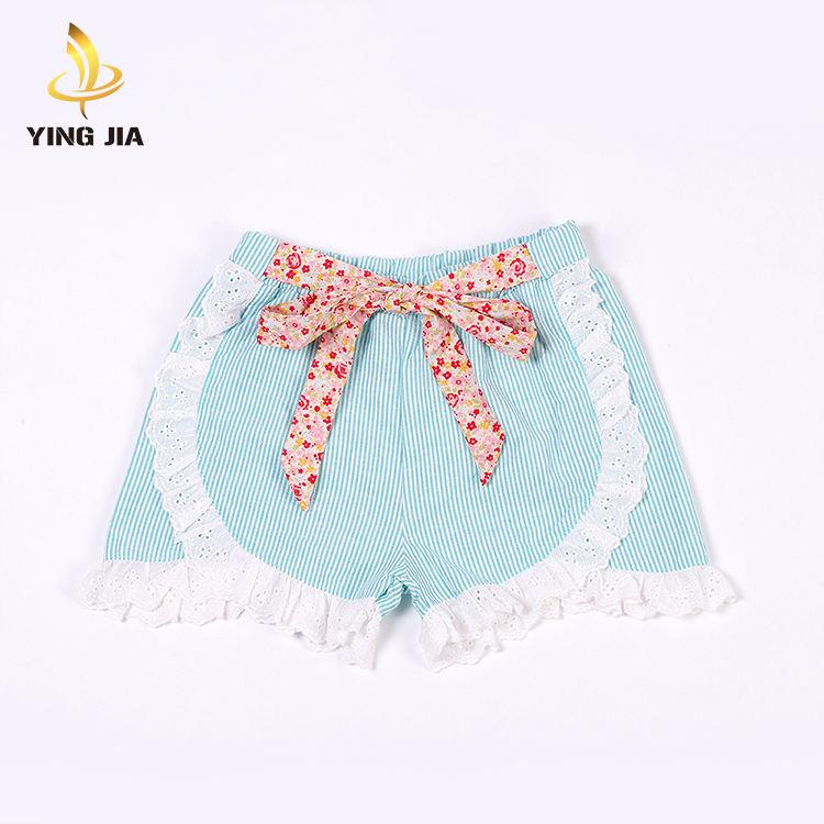 Оптовая продажа; летние комплекты одежды для малышей; блестящие штаны с бантом для маленьких девочек; шорты