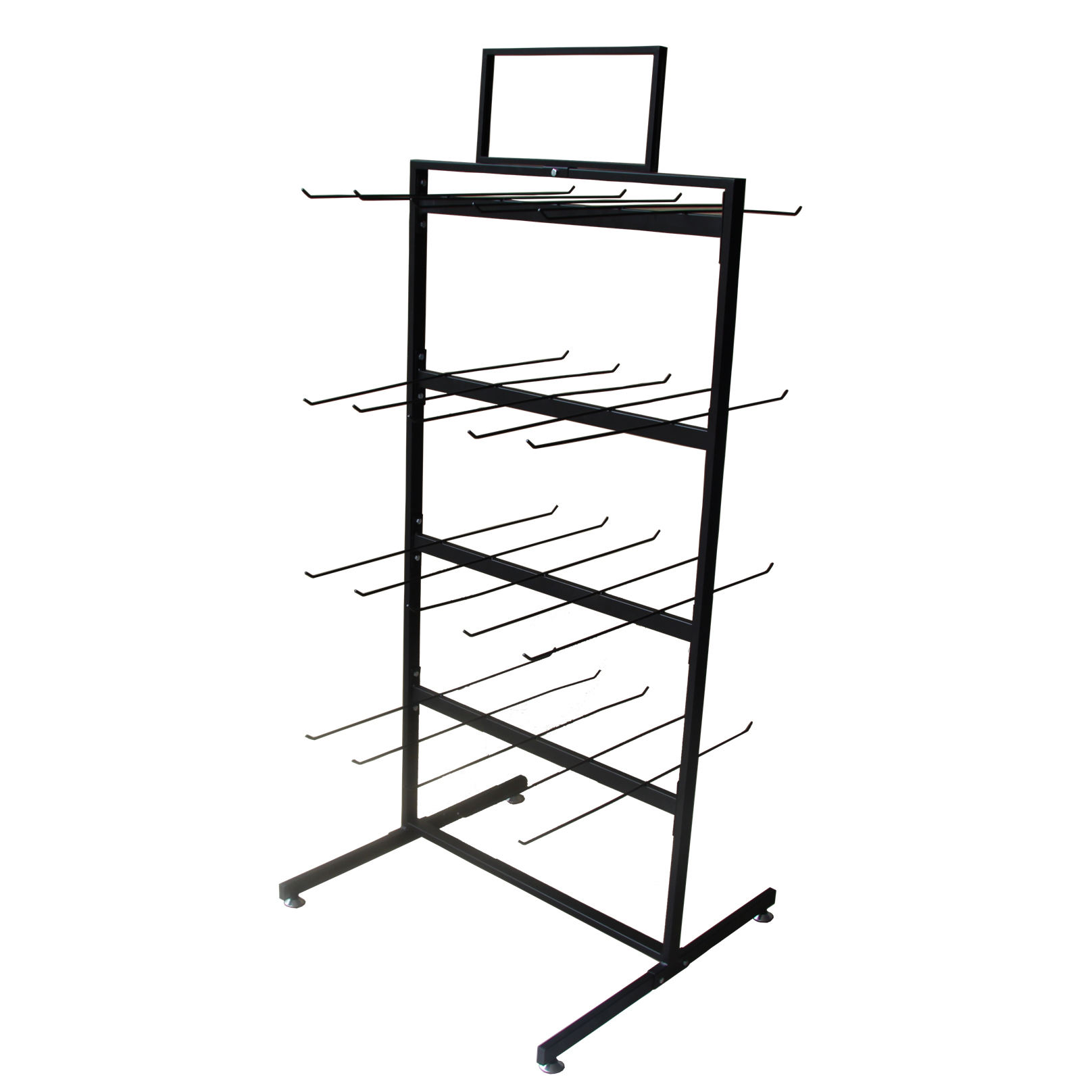 Supermarket racking shevles double-sided bag snack food display stand retail hanging display sample display rack