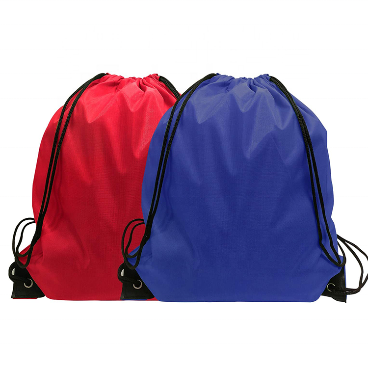 Polyester Draw String strong drawstring backpack bag Custom Polyester Drawstring Bag