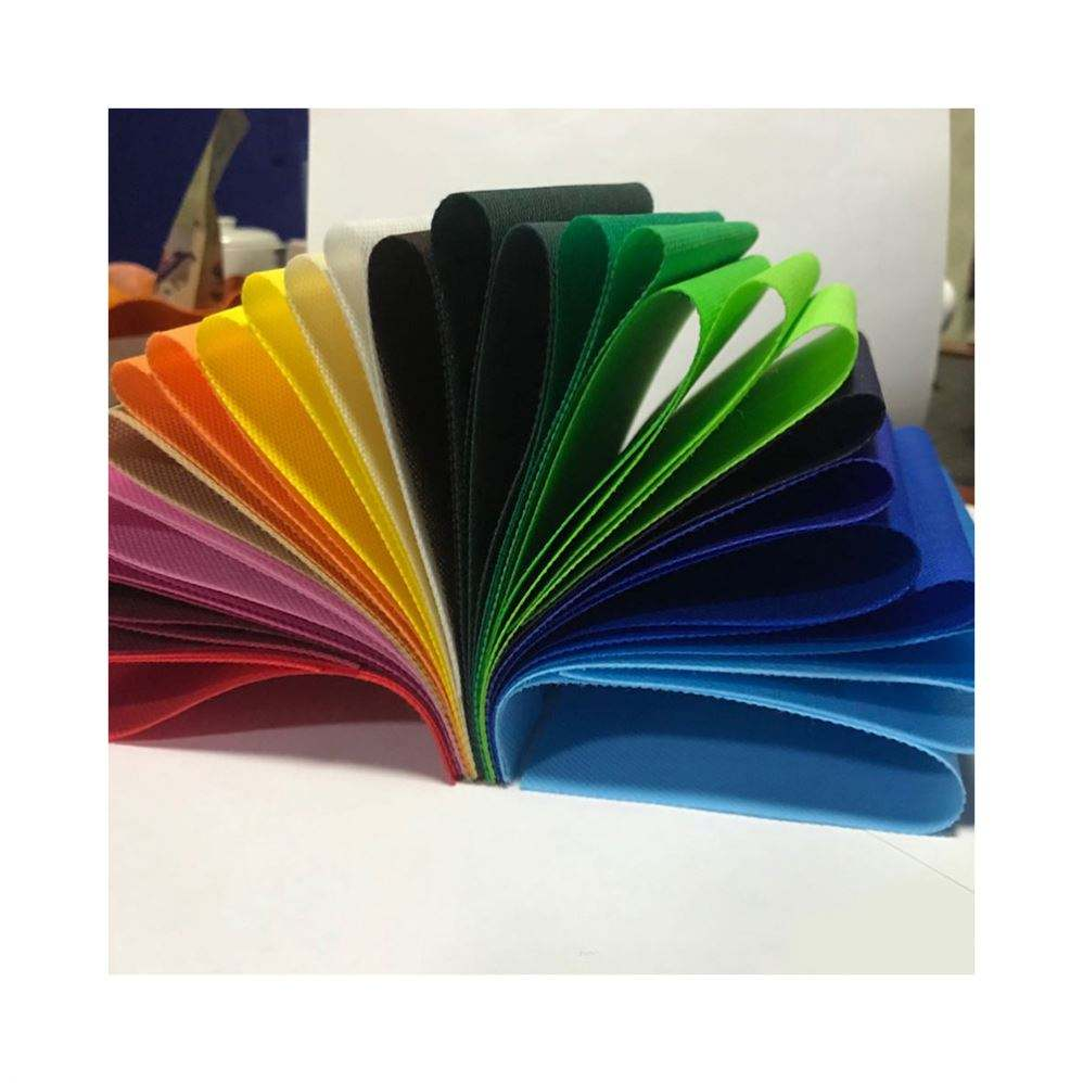 High quality 100% polypropylene color custom non woven fabric tote bag non woven fabric
