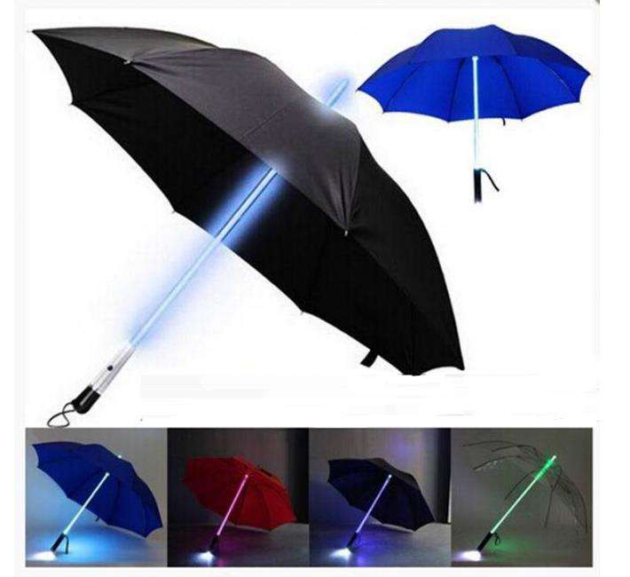 10 Stks/partij Cool Blade Runner Light Saber Led Flitslicht Paraplu Zaklamp Night Wandelaars