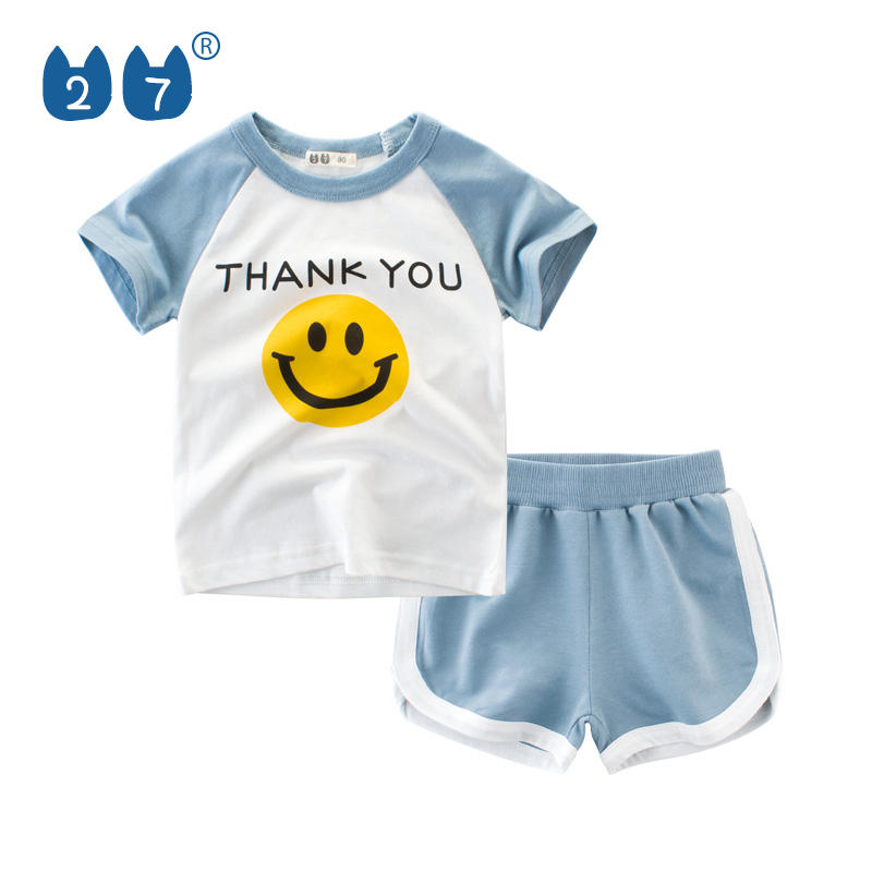 Wholesale most popular 2 piece of kids clothing boys sets for 1~10 years old