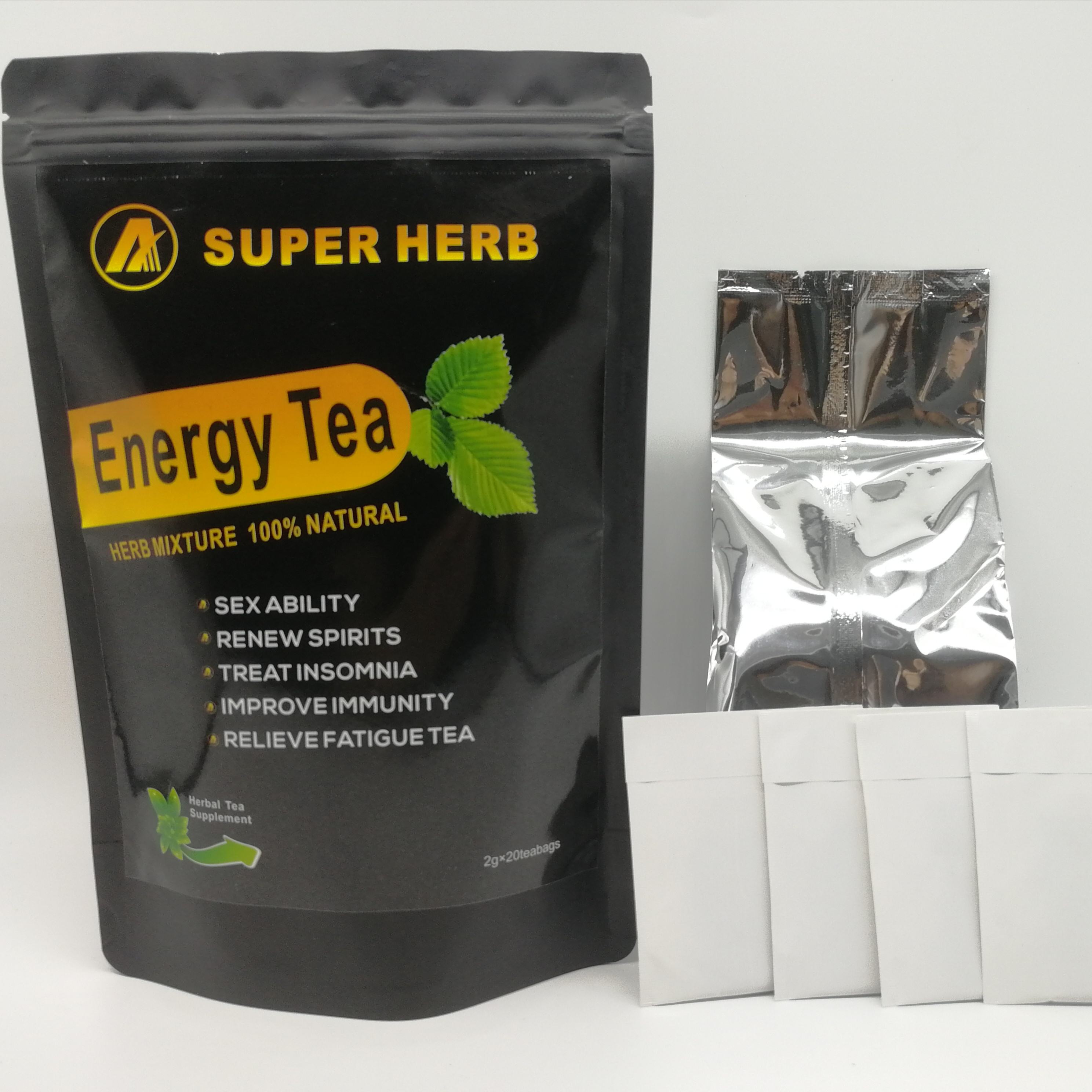 Hot Sell Sexual Exhance Relieve Fatigue Herbal Supplement Man Energy Tea