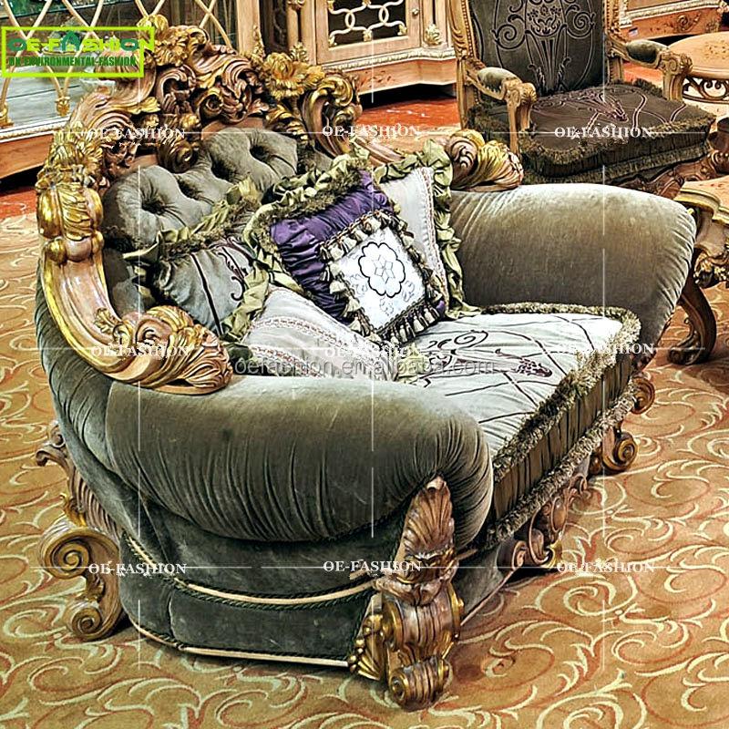 Muebles de sala de lujo tipo y salón sofá de tela uso específico Villa sofás