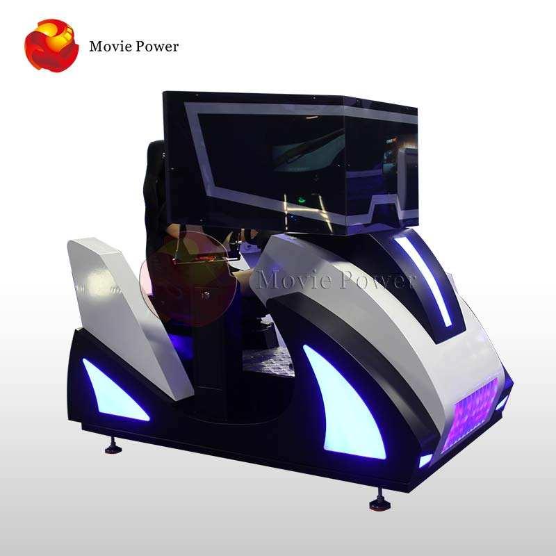 عالية السرعة 3dof الحركة <span class=keywords><strong>منصة</strong></span> الواقع الافتراضي محاكي القيادة مع مخلب 9D Vr سيارة محاكي القيادة مع 3 شاشات